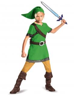 Link™-Kostüm für Kinder Zelda™-Cosplay Fasching grün-braun