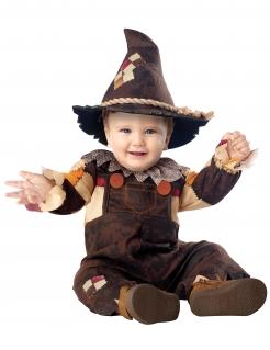 Vogelscheuche-Kostüm für Baby Halloween-Kostüm braun-beige