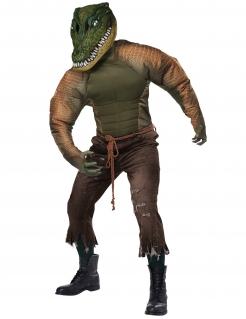 Krokodil-Kostüm für Herren Halloween grün
