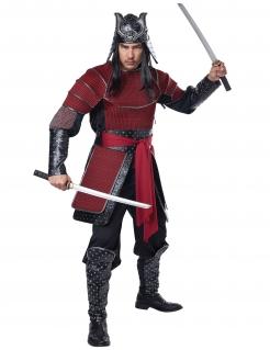 Samurai-Kostüm für Herren rot-schwarz