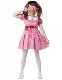 Wütendes Mädchen Damenkostüm rosa-weiß