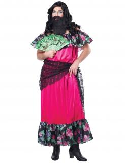 Freakshow-Kostüm Zirkusdame aus dem 19. Jahrhundert pink-schwarz