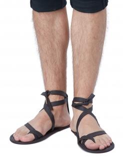 Römer-Sandalen für Herren Faschingsaccessoire schwarz