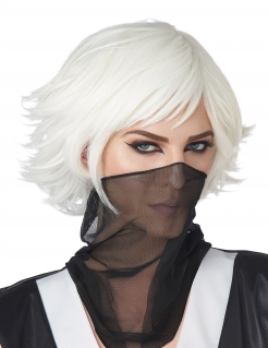 Anime Cosplay-Perücke für Erwachsene weiß