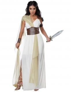 Römerin-Kostüm für Damen Antike-Kostüm Fasching weiss-braun