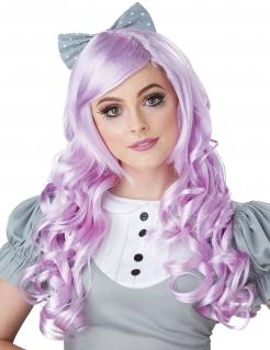 Cosplay-Perücke für Damen Accessoire violett