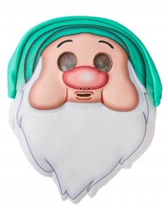 Schlafmütze-Maske Schneewittchen und die sieben Zwerge Faschingsmaske beige-grün-weiss
