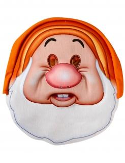 Hatschi-Maske 7 Zwerge Schneewittchen™ Faschingsmaske orange-weiss