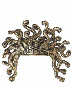 Legendäre Krone der Medusa Kopfschmuck für Damen goldfarben-schwarz