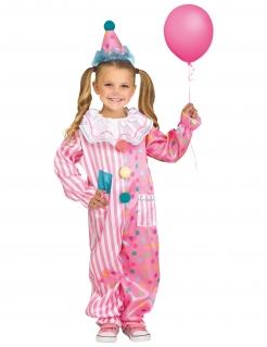 Fröhliches Clown-Kostüm für Mädchen bunt