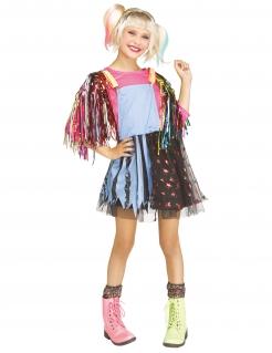 Verrückte Superheldin-Kostüm für Mädchen Faschingskostüm bunt