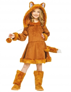 Fuchs-Kostüm für Mädchen Faschingskostüm rotbraun