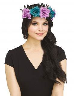 Blumenkrone lila-blau-schwarz