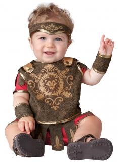 Gladiator-Kostüm für Babys und Kleinkinder braun-rot