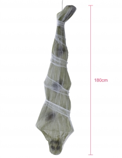 Mumien-Hängedeko Leiche Halloweendeko beige 180 cm