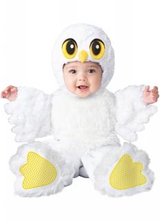 Eulen-Kostüm für Babys Halloween-Kostüm weiss-gelb