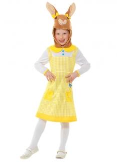 Wuschelpuschel™-Kostüm für Mädchen Peter Hase™ Faschingskostüm gelb-weiss