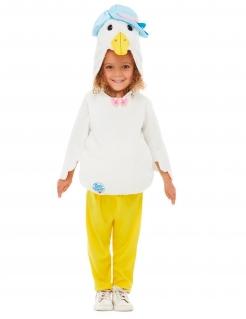 Jemima Puddle Duck™ Enten-Kostüm für Kinder Peter Hase™ Faschingskostüm weiss-gelb-blau
