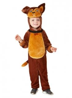Hunde-Kostüm für Kleinkinder Faschingskostüm braun