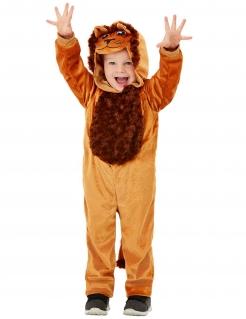 Löwe-Kostüm für Kleinkinder Tier-Overall braun