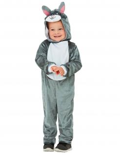 Hase-Kostüm für Kleinkinder Tier-Overall grau