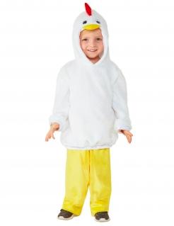 Hühner-Kostüm für Kleinkinder Faschingskostüm weiss-gelb