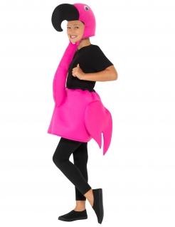 Sommerliches Flamingo-Kostüm für Kinder rosa-schwarz