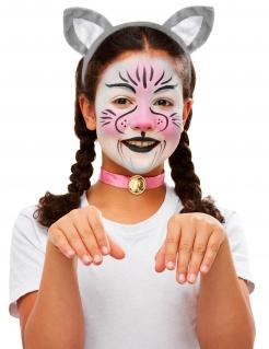Katzen-Schminkset für Kinder mit Accessoires bunt