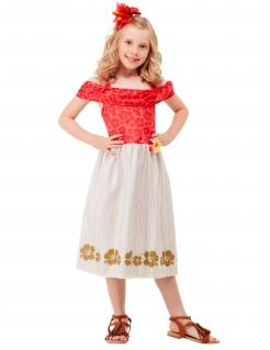 Hawaiianische Prinzessin Kostüm für Mädchen Faschingskostüm rot-beige