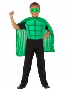 Superhelden-Kostüm-Set für Kinder Faschingskostüm grün