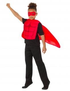 Superhelden-Set für Kinder 3-teilig rot