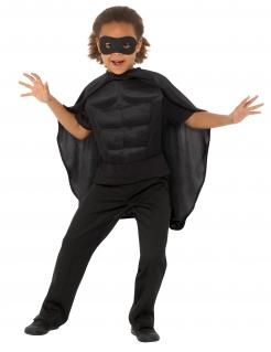 Superhelden-Kostümset für Kinder 3-teilig schwarz