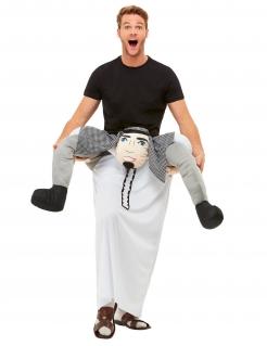 Scheich-Huckepack-Kostüm für Erwachsene Faschingskostüm grau