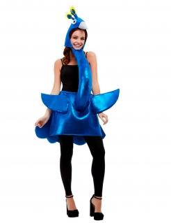 Pfauenkostüm für Erwachsene Tier-Kostüm blau