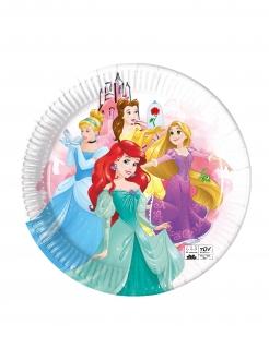 Disney Prinzessinnen™ Partyteller 8 Stück bunt 23 cm