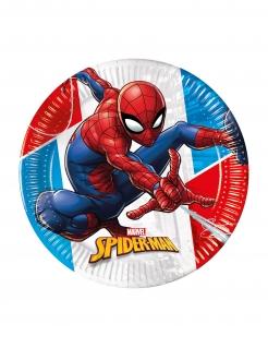 Spiderman™-Partyteller Tischdeko Kindergeburtstag 8 Stück bunt 23 cm