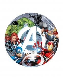 Tolle Avengers™-Pappteller Lizenzware 8 Stück bunt 23 cm