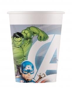 Avengers™-Pappbecher Lizenzware 8 Stück bunt 200 ml