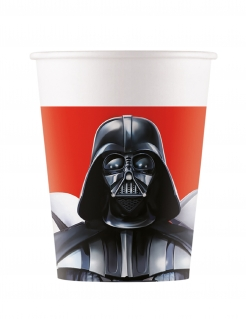 Star Wars Final Battle™ Partybecher 8 Stück schwarz-weiß-rot 200 ml