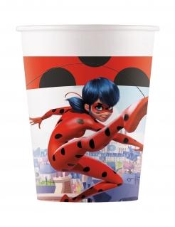Ladybug™-Trinkbecher Miraculous™ Partydeko Kindergeburtstag 8 Stück bunt 200 ml