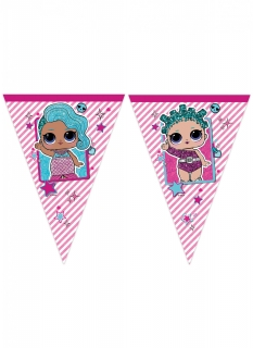 LOL Surprise™-Wimpelgirlande Kindergeburtstag-Partydeko pink 2,3 m