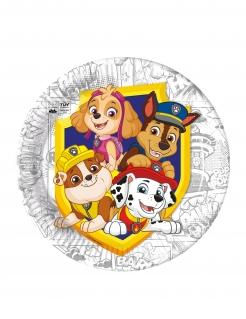 Paw Patrol™-Pappteller Kindergeburtstag Partydeko 8 Stück bunt 23 cm