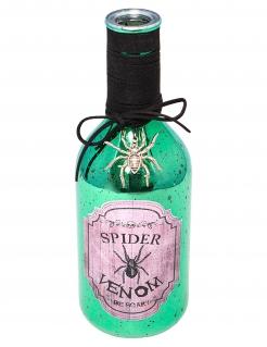 Spinnengift-Phiole Halloween-Partydeko grün 22 cm