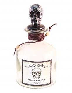 Arsen-Dekofläschchen Halloween-Partydeko silber-rot 16 cm
