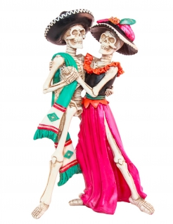 Dia de los Muertos-Dekofigur bunt 30 cm