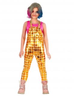 Clown-Latzhose für Kinder Film-Kostüm für Mädchen gold-gelb