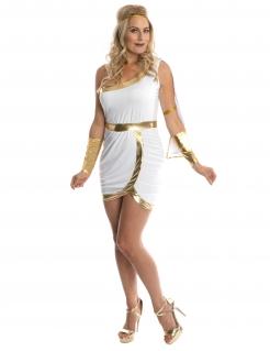 Griechische Göttin Antike-Kostüm für Damen weiss-gold