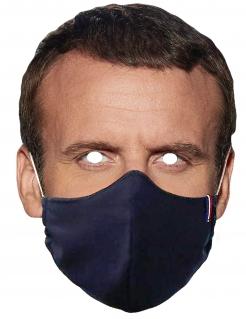 Papp-Maske Maske Präsident Emmanuel Macron Mundschutz