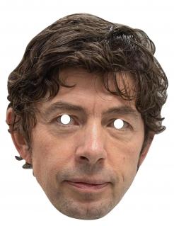 Christian Drosten-Pappmaske humorvolle Maske hautfarben-braun