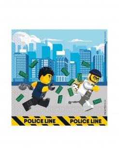 Lego City™-Papierservietten FSC® zertifiziert 20 Stück bunt 33 x 33 cm
